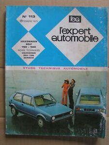 Revue Technique Automobile pour VOLKSWAGEN GOLF 1100 - 1500 2 et 4 portes n°113