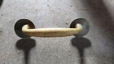 """Vintage brass door cabinet handle metal vintage - 7.5"""" long x 2"""" wide x 2.25"""""""