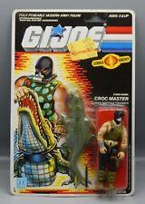 Vintage 1987 Hasbro GI Joe CROC MASTER action figure MOC sealed Crocmaster toy !