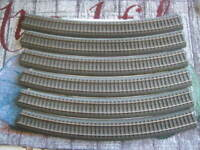 Used Lot of 6 Marklin H0 24530 Curved C Track Section from layout - LN