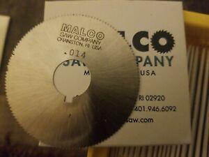 "(LOT of 2) MALCO Screw Slotting Saw 2-1/4"" x 0.0140"" x 5/8"" HSS UNC 132T  NOS"