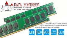 Micron- 4 GB ( 2 x 2 GB) DDR3 1600 MHz PC3-12800 Desktop Memory RAM 1.35V