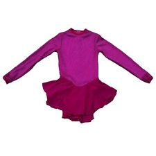 Jerry's Figure Ice Skating Competition Dress Size Girl's 10/12 Hot Pink Glitter