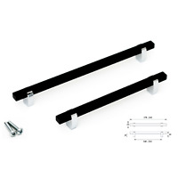 Brushed Polished Black Kitchen Bathroom Cabinet Door Drawer Furniture Handles