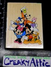MICKEY MOUSE CAST FRIENDS GOOFY DONALD MINNIE RUBBER STAMP ALL NIGHT MEDIA 54J01