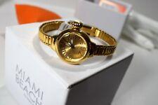 Glam Rock Women's Miami Beach Art Deco Gold Dial Gold Tone Watch MBD27155