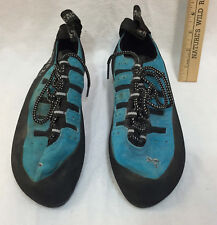 Boreal Climbing Shoes Fs Quattro Black Rubber Sole Size 6 1/2 Uk Mens Aqua
