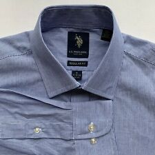 New U.S Polo Regular Fit Striped Long Sleeve Men's Shirt Size M 15- 15 1/2 32/33