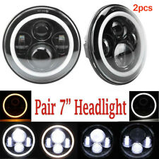 2X 7Inch Round 150W CREE LED Headlights Hi/Lo for 97-17 JEEP JK TJ LJ Wrangler