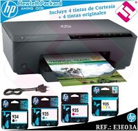 IMPRESORA MULTIFUNCION COLOR HP A4 OFFICEJET PRO 6230 WIFI + 4 TINTAS ORIGINALES