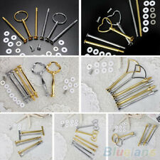 2/3 Tier Cake Cupcake Rod Plate Stand Handle Hardware Fitting Holder Tool CA
