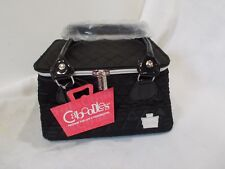 CABOODLES SASSY TAPERED TOTE NEW CASE MAKEUP ORGANIZER BAG BLACK #3