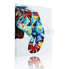 Modern Long Nose Elephant Abstract Unframed Canvas Print Picture Wall Art Decor
