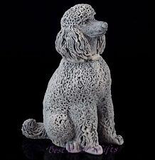 "Poodle Marble Dog Figurine Russian Art Stone Sculpture Animal Statue 4 3/8"""