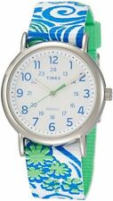 "Timex TW2P90300, Women's ""Weekender"" Fabric Watch, Indiglo"
