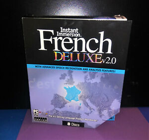 Instant Immersion French Deluxe v 2.0 Speech Language 8 Discs CD-Rom w/Key