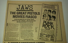 SEX PISTOLS movies fiasco 1978 UK ARTICLE / clipping