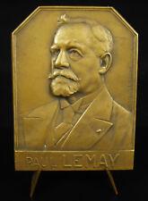 Médaille Paul Lemay Compagnie des mines d'Aniche 1927 H Lefebvre miner medal