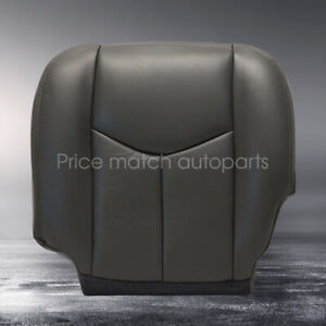 For 03-06 Chevy Silverado 1500 2500 Driver Bottom Seat Cover Dark Gray