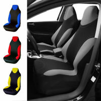 2pcs Durable Polyester Universal  Car Seat Cover High Back Bucket Seat Cover