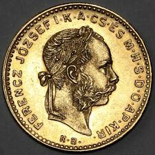 More details for 1884 kb franz joseph i kremitz hungary gold 4 four forint 10 ten francs coin
