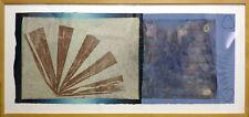 "Scott Sandell ""Watersign"" Signed Mixed Media Abstract Art, Framed, Make Offer!"