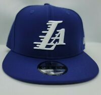 NEW ERA 9FIFTY ADJUSTABLE SNAPBACK HAT.  NBA. LOS ANGELES LAKERS.  DARK ROYAL.