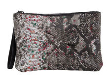 Zip Snakeskin Handbags with Inner Dividers Clutch Bags
