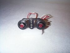 Lionel 154 Highway Flasher Target Black w/ Scale Bulbs. Lamp Sockets, Leads NOS