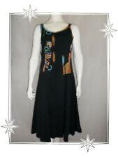 F - Robe Fantaisie Noire Multicolore Leslie Monte Carlo Taille 46
