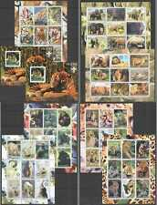 D1380 2003 ERITREA FAUNA WILD CATS GORILLAS ELEPHANTS BEARS ANIMALS 2BL+7KB MNH