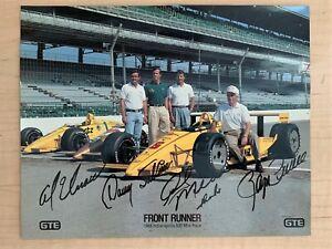 1988 Indy 500 Penske Racing Front Row Sweep Mears Sullivan Unser Penske Photo