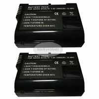 2X EN-EL15 Camera Battery For Nikon D810 D750 D610 D7000 D7100 D7200 V1 DSLR