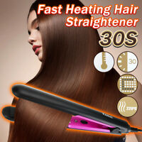 Fast Heat Hair Straightener Styler Flat Iron Ceramic Tourmaline Plate Salon Set