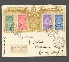 CITE POSTE VATICANE SERIE STAMPS 1939 BERN SWITZERLAND RECOMMANDE  LETTRE COVER
