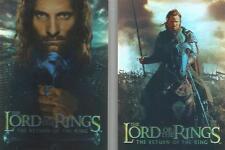 Lord Of The Rings Return of The King ROTK - Bonus Foil Box-Topper Set of 2 Cards