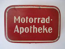 VINTAGE RED MOTORRAD APOTHEKE - MOTORCYCLE PHARMACY TIN BOX  OLD GERMANY