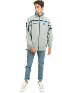 LEGEA Track Jacket Size L Logo Details Striped Trim Drawcord Hem Funnel Neck