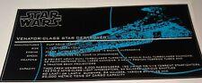 Star Wars Sticker for Lego® Venator MOC-0694 ANIO precut (NOT 8039) blue HQ cmyk
