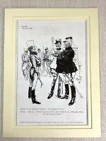 1915 Antico Stampa Johnnie Walker Whisky Pubblicità Francese Soldier