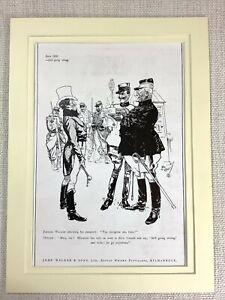 1915 Antique Print Johnnie Walker Whiskey Advert Advertisement French Soldier