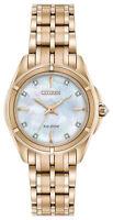 Citizen Eco-Drive Women's EM0353-50D Prezia Diamond Accents Rose Gold 29mm Watch