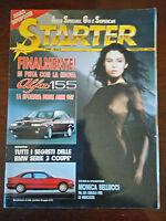 STARTER Febbraio 1992 - Monica Bellucci, Alfa 155, BMW serie 3 coupè