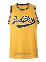 Biggie Smalls #72 Notorious Big Bad Boy Jersey Stitched Yellow