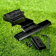 Universal Picatinny Weaver Rail Scope Side Mount for Tactical Hunting Pistol Gun