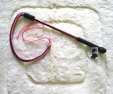 Horse Equine Cattle  5' Drover whip /Bull Whip /Training Whip  Wood Handle/Pink