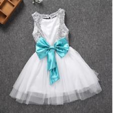 US STOCK!  Girl Princess Dress Party Wedding Bridesmaid Tulle Tutu Dress K34