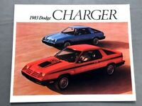 1983 Dodge Charger and 2.2 Original Canada Car Sales Brochure Catalog