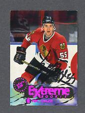 Eric Daze signed Blackhawks 1995-96 rookie hockey card
