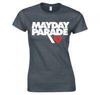 """MAYDAY PARADE """"HEART LOGO"""" LADIES T-SHIRT NEW"""